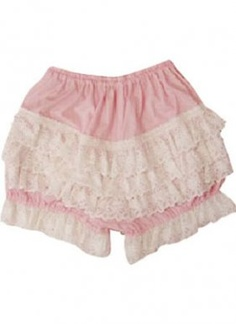 Simple and Lovely Pink Cotton Lace Lolita Bloomers    We provide cute and high quality lolita bloomers. The Simple and Lovely Pink Cotton Lace Lolita Bloomers is made with heart and soul.Simple and Lovely Pink Cotton Lace Lolita Bloomers to wear with your sweet lolita skirt. Cinched at the waist with elastic.  Ocrun.com is trying to offer you a happy shopping.