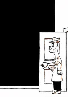 """Illustrazione tratta da """"Lost Cat"""" di Jason. Pubblicato da Fantagraphics (2013)."""