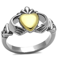 Gold and Silver Classic Claddagh Ring http://www.endofretail.com #EOR #Ring #Jewelry #Sale