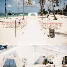 Jellyfish restaurant wedding ceremony // Adele + Ryan  Www.shoeboxphotography.ca/punta-Cana-giveaway