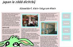 Website gemaakt rond artikel over de Japanse wijk van Düsseldorf.