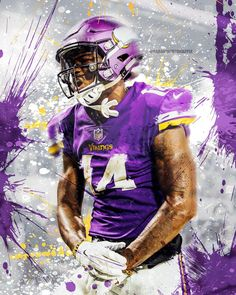 Upload your artwork and we take care of the rest. Nfl Football Helmets, Football Cheer, Best Football Team, Football Art, Football Memes, Fantasy Football, Football Season, Football Players, Diggs Vikings