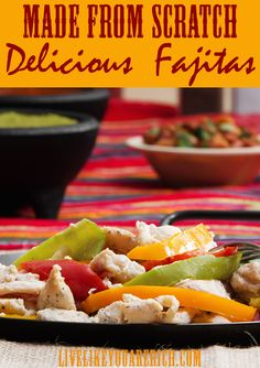 This homemade fajita seasoning/marinade recipe is easy to make, healthy, and very flavorful. It doesn't require a pre-made fajita mix; instead it combines amazing fresh ingredients, seasonings, and flavors which blows the premade fajita mixes away! #LiveLikeYouAreRich