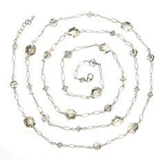 Roberta Swarovski long necklace by Sophia & Chloe