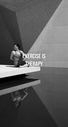 Exercise is therapy. Head over to www.V3Apparel.com/MadeToMotivate to download this wallpaper and many more for motivation on the go! / Fitness Motivation / Workout Quotes / Gym Inspiration / Motivational Quotes / Motivation