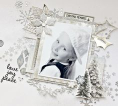 """Alicia's September """"Frosted"""" Layout with Process Video"""