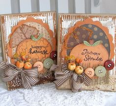 Harvest Autumn Fall Handmade Card Set by PaperBistro on Etsy