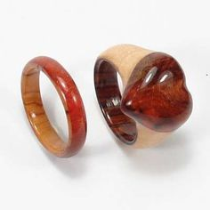 Love this! Wooden Engagement Rings   Custom Wooden Rings from Natural-Wood-Rings.com!