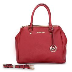 Michael Kors Outlet Hamilton Medium Red Totes