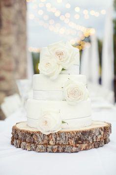 Winter white wedding cake: http://www.stylemepretty.com/destination-weddings/2013/01/02/colorado-wedding-from-sarah-kate-photographer/   Photography: Sarah Kate - http://sarahkatephoto.com/