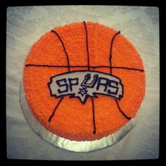 Spurs basketball cake! Spurs Cake, Birthday Ideas, Bakery, Fans, Basketball, Cupcakes, Cupcake Cakes, Cup Cakes, Muffin