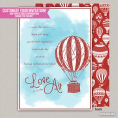 Love Is In The Air Save the Date - Custom Save the Date - Printable Save the Date on Etsy, $15.00