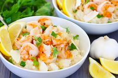 Shrimp Scampi With Parmesan Risotto | gimmesomeoven.com
