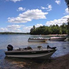 Mikisew_Eagle Lake_boats moored along resized Canoes, Kayaks, Lake Boats, Eagle Lake, Life Jackets, Fishing Supplies, Canoe And Kayak, Small Boats