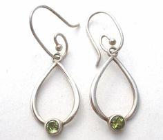 Pandora Sterling Silver Peridot  Earrings Ale Green Gemstones Hooks Drops Dangle   Jewelry & Watches, Fine Jewelry, Fine Earrings   eBay!