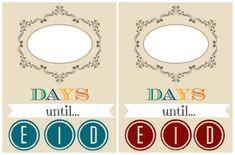 Eid Countdown (Ramadan Free Printable)