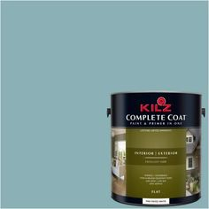 Kilz Complete Coat Interior/Exterior Paint & Primer in One, #RF170-02 Stormy Waters, Gray