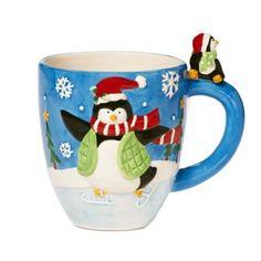 Pfaltzgraff® Holiday Penguin Figural Mug - BedBathandBeyond.com