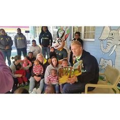 Curly Jade - At the Christine Revell Children's Home with Kyle Brown and the Springbok Sevens to #BringTheHeat this Mandela Day. #MandelaDay #67minutesformandela #67minutes #MandelaDay #SARugby #springboksevens