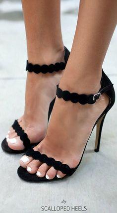 DIY Scalloped Heels