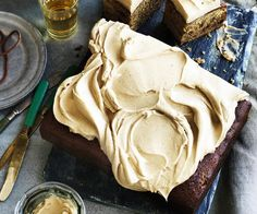 Ginger beer date cake with cream cheese frosting, cheese recipe, brought to you by Australian Women's Weekly Cream Cheese Recipes, Cake With Cream Cheese, Cream Cheese Frosting, Chocolate Mud Cake, Chocolate Recipes, Caramelised Apples, Date Cake, Roasted Onions, Homemade Tomato Sauce