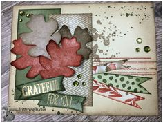 Stampin' Up! Holiday Catalog 2014, For All Things and Color Me Autumn Card. Masculine, Thank You, Thanksgiving. Gorgeous Grunge.