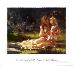 Mãe e Filho Impressão artística