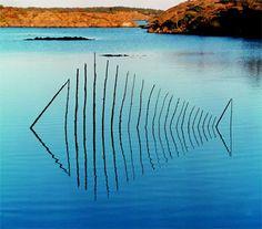 Fisch 2 by Wolfgang Buntrock, Land Art Installation