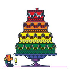 To celebrated same sex marriage becoming legal in all 50 US states