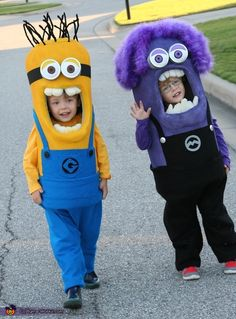 Twin Minions Costume - Halloween Costume Contest via @costume_works                                                                                                                                                     More