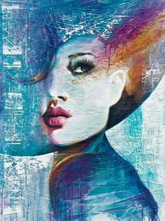 "Saatchi Online Artist: Colin Staples Life Art; Acrylic 2013 Painting ""Angie"". Beautiful lines created in the painting."