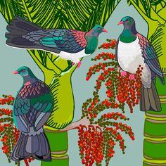 Nikau and Kereru - Vibrant NZ - Shop By Style - Art