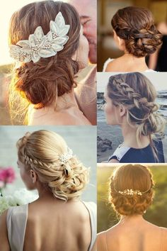 Make the aisle your runway with these bridal hairstyles, on the blog now! #AtelierBackstage Thanks to: @100vestidos #updos