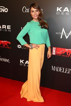 Nazan Eckes attend KARE Design at the New Faces Award Fashion 2013 — at New Faces Award Rheinterrassen Düsseldorf. Face Awards, Big People, People Magazine, New Face, Faces, Glamour, Street, Formal, Chic