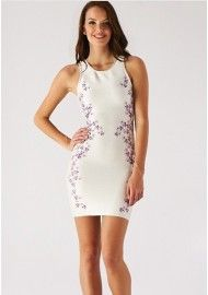 Wow Couture Floral Design Luxe Bandage Dress