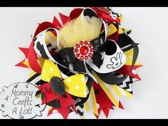 HOW TO make accent bows for your HAIR BOWS (bows for bows? huh) :) - YouTube