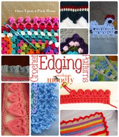 Free #Crochet Edging Patterns - great for blankets, napkins, towels, tablecloths, dresses, you name it!