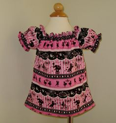 Custom Boutique Circus At Night Peasant Top 12M   To by FRANCISBEL