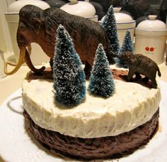 Woolly mammoth birthday cake - I believe somebody wanted a mammoth cake?