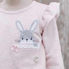 Baby Grill, Sewing Baby Clothes, Some Bunny Loves You, Color Collage, Live Wallpaper Iphone, Baby Embroidery, Easter Colors, Girls Tees, Future Baby