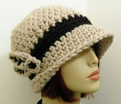 Great looking crocheted hat.