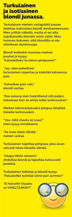 Vitsit: Turkulainen ja isotissinen blondi junassa - Kohokohta.com