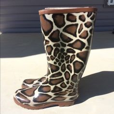 Animal print rain boots Animal print (giraffe) rain boots. Brand new with tags Smoky Mountain  Shoes Winter & Rain Boots