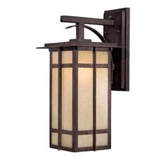 """View the The Great Outdoors GO 71192-PL 1 Light 17.5"""" Height Outdoor Wall Sconce from the Delancy Collection at LightingDirect.com."""