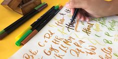 5 Reasons Why You Need to Start Watercolor Painting Brush Pen Art, Hand Lettering Tutorial, Brush Lettering, New Hobbies, Watercolor Paintings, Typography, Calligraphy, Ideas, Letterpress