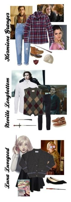 """Harry Potter characters!!"" by booklover66 ❤ liked on Polyvore featuring WithChic, L.L.Bean, Universal, Patagonia, Neville, Scotch & Soda, Urban Pipeline, Sperry, Jimmy Choo and Luna"