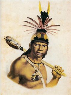 Chef Camacan Mongoyo, 1834 - The Miriam and Ira D. Wallach Division of Art, Prints and Photographs: Print Collection. Firmin Didot, Indigenous Tribes, Jean Baptiste, Black Image, Viking Tattoos, African Diaspora, Culture, New York Public Library, India