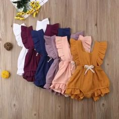 Ruffle Solid Romper Baby Girl Ruffle Solid 11 Color Romper Jumpsuit Outfits Sunsuit for Newborn Infant Children Clothes Kid Clothing Baby Outfits Newborn, Baby Girl Newborn, Baby Baby, Cute Baby Outfits, Baby Girl Fashion, Kids Fashion, Womens Fashion, Modern Fashion, Newborn Fashion