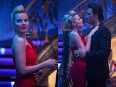 """""""This was our favorite look among everyone-the hair and make-up department, costume department, Margot and the directors. We were filming in this palace in Buenos Aires, and as soon as Margot put on her red dress, we all started screaming and yelling. We were so happy to see such a collaborative look come together so beautifully. The idea for this hair is very geometric and formed, following the curves in the dress for a scene where she slinks down the stairwell.""""<br /><br /><b>Get the ..."""