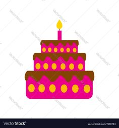 flat icon on white background birthday cake. Download a Free Preview or High Quality Adobe Illustrator Ai, EPS, PDF and High Resolution JPEG versions.